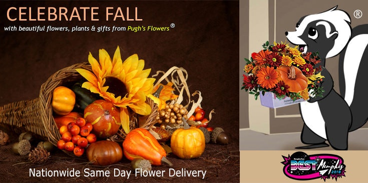 Shop at Pugh's Flowers for the best selection of Fall and Autumn themed flowers in Memphis TN.