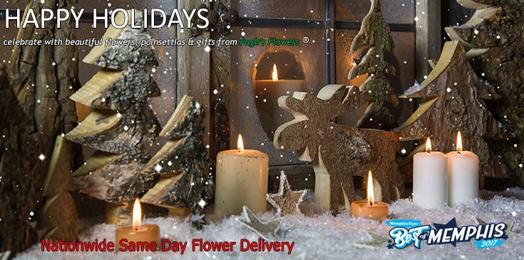 Shop Pugh's Flowers for the best selection of beautiful Christmas and Holiday flowers, poinsettias and gifts.