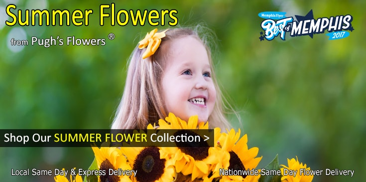 Shop Pugh's Flowers for the best selection of Summer Flowers in Memphis Tennessee.