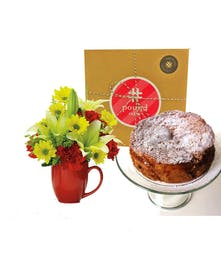 Pound Cake and Mug Arrangement