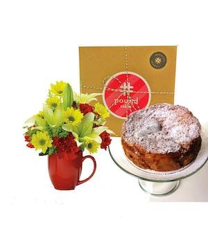 Pound Cake and Mug Arrangement