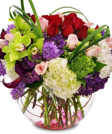 Hydrangea, Roses, Orchids