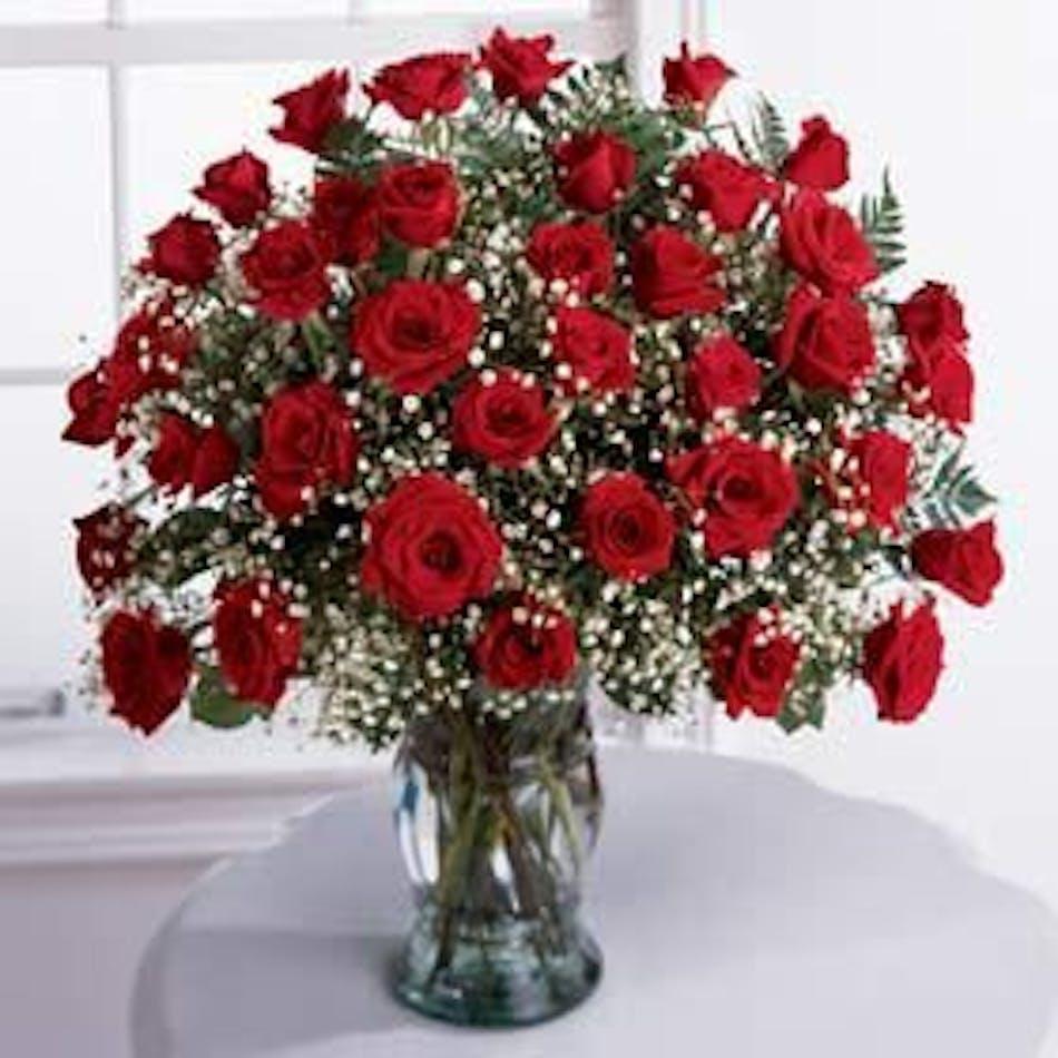 36 Red Roses: Beautiful Hand Picked Ecuadorian Red Roses - Pugh\'s ...