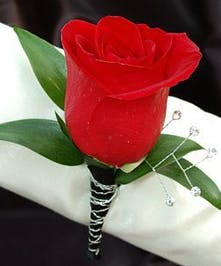Single Rose with Wire Accents