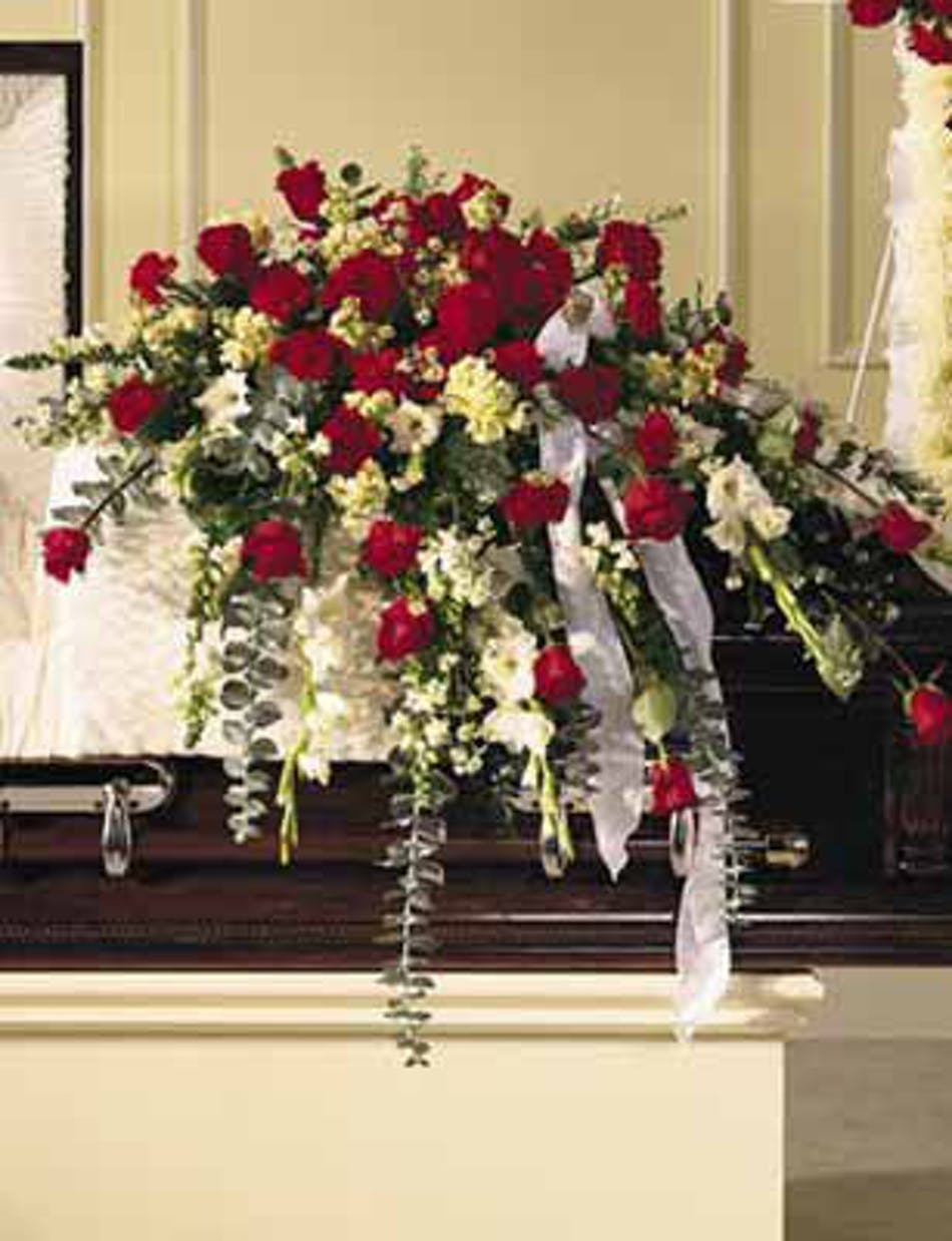 Sympathy Casket Spray Traditional Pughs Flowers Local Florist