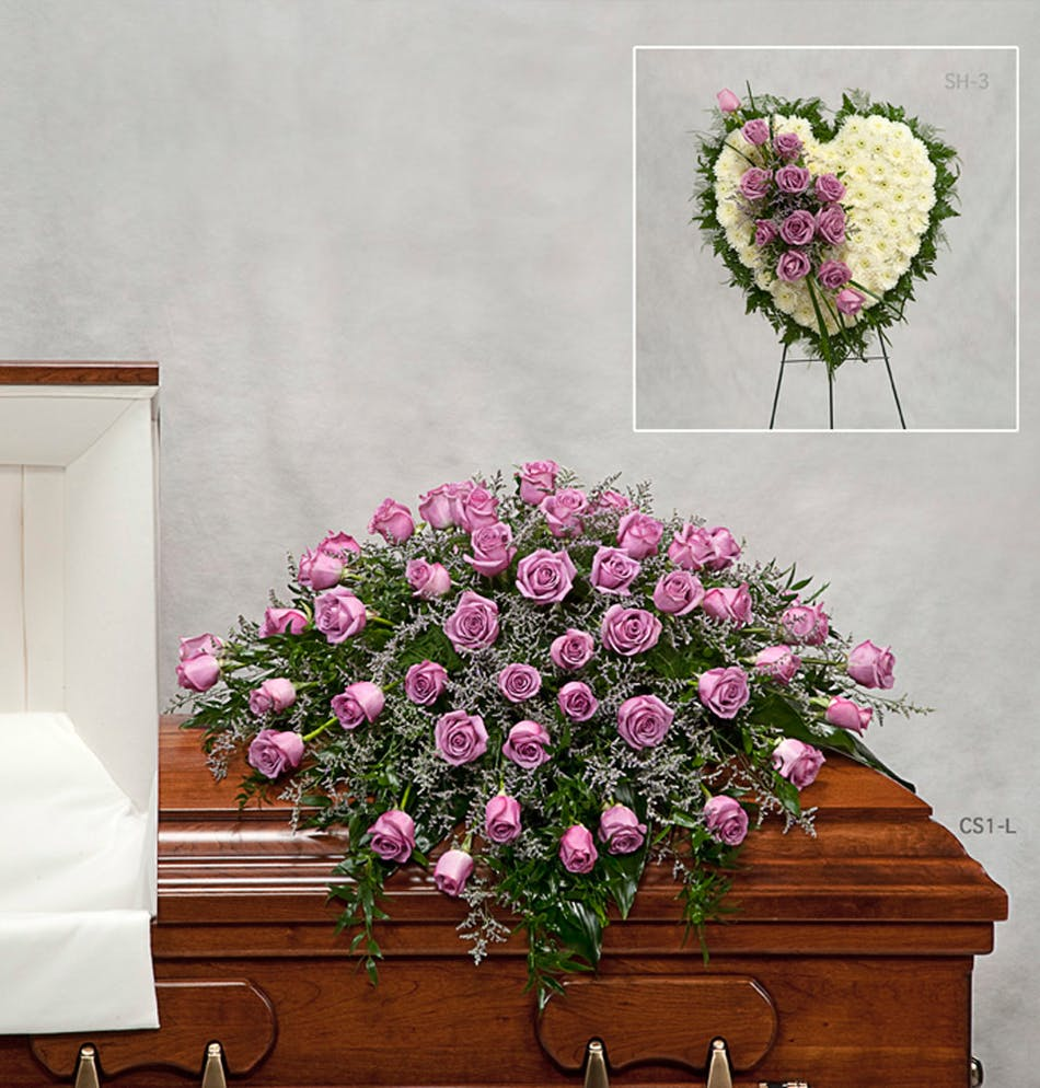 Lavender rose cover for the casket pughs flowers local florist delivery conditions reward points funeral etiquette izmirmasajfo