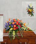 Exotic Colorful Casket Cover