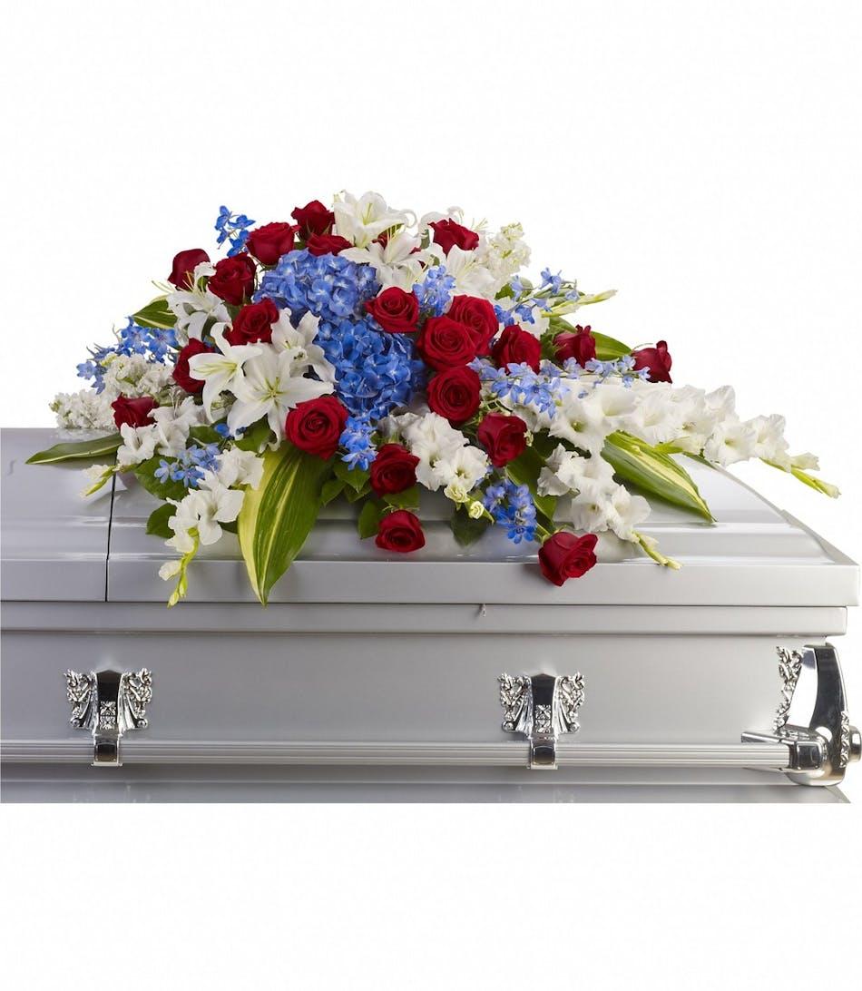 Patriotic Remembrance Cover Pughs Flowers Local Florist Memphis Tn