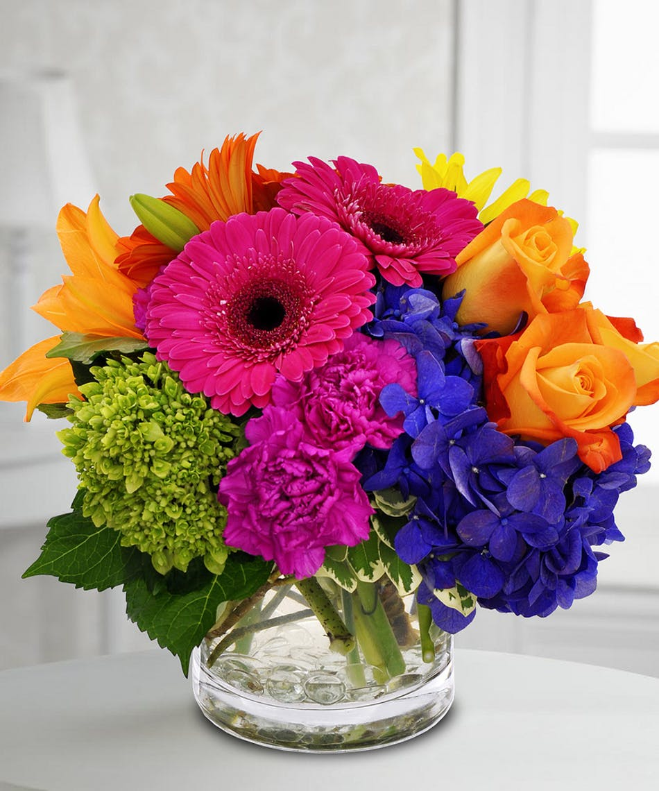 Bright Bouquet: mixed stems - Pugh\'s Flowers local florist Memphis, TN