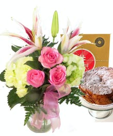 Flowers and Pound Cake