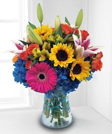 mixed vase