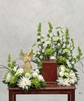 Green and White Urn Tribute