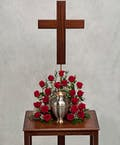 Red Rose Urn Tribute