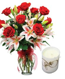 Roses Plus Candle