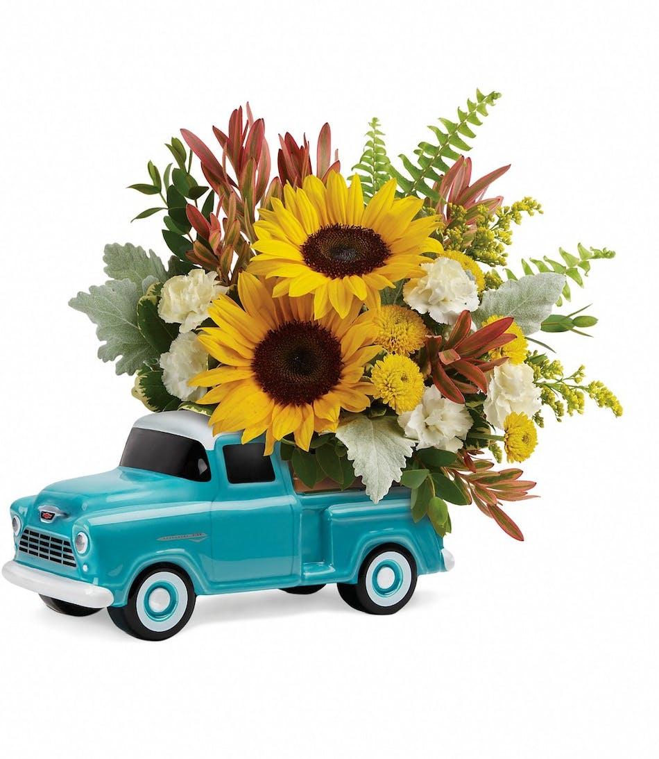 Chevy Truck Arrangement Keepsake Pughs Flowers Local Florist