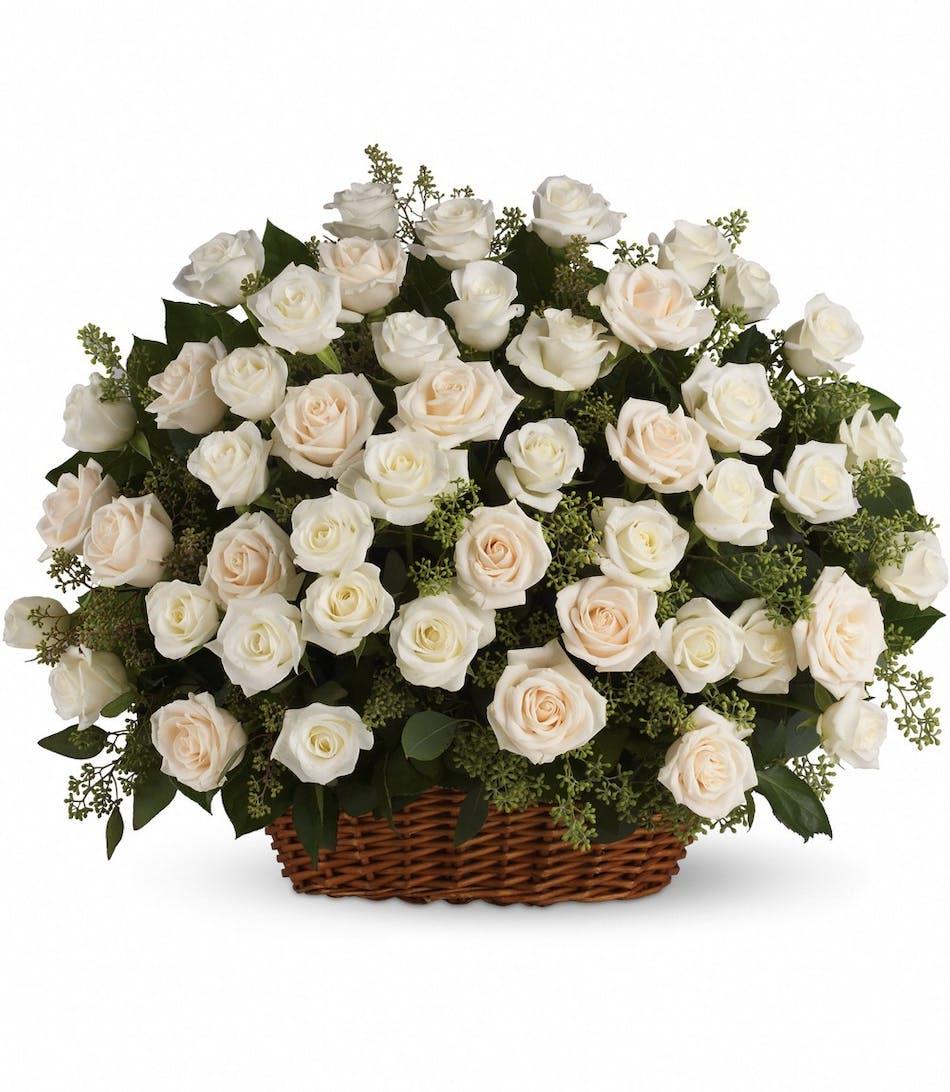 Bountiful Rose Basket Pughs Flowers Local Florist Memphis Tn