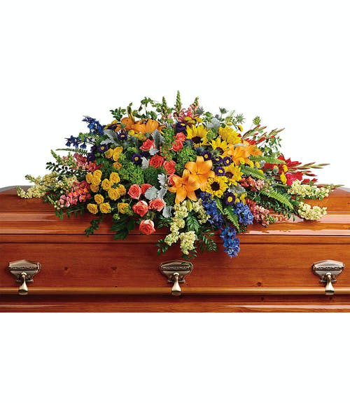 Large Fall Casket Cover