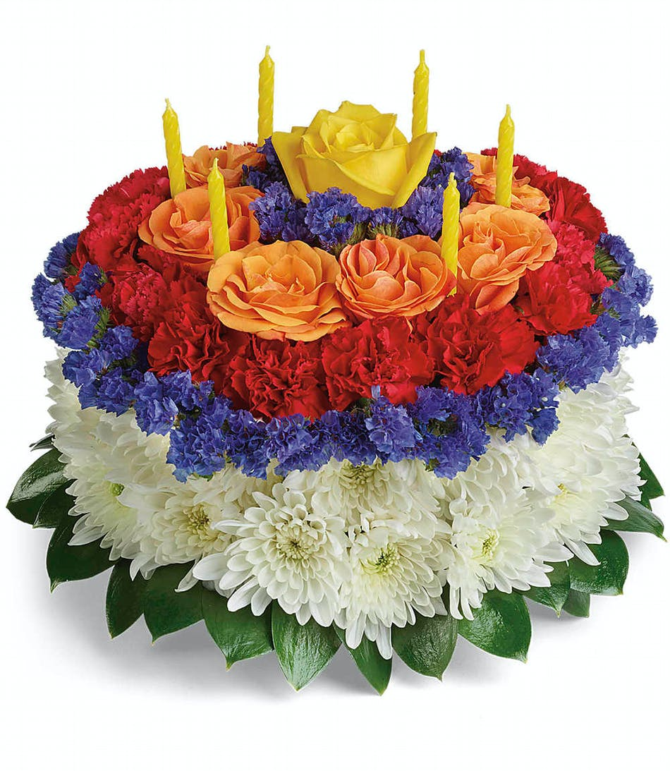 Your Wish Is Granted Flower Cake