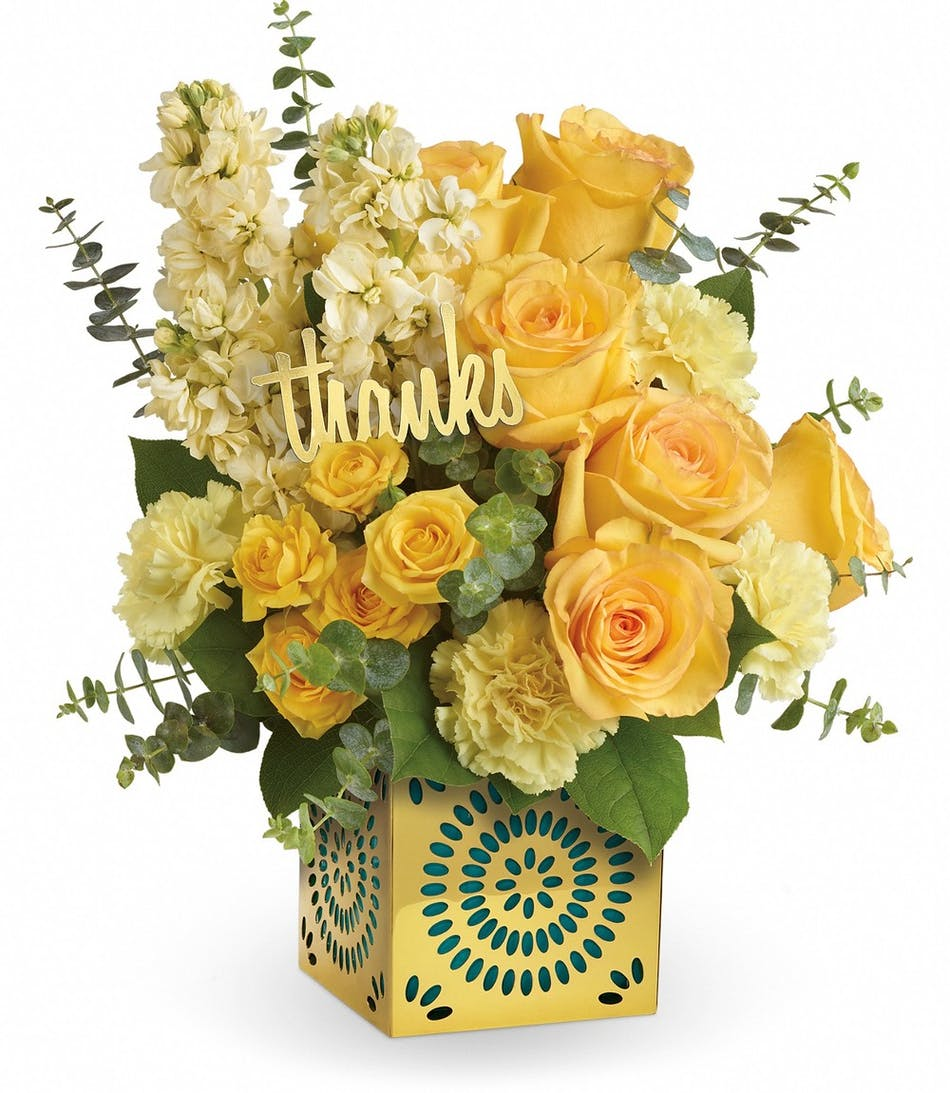 Shimmer of thanks bouquet pughs flowers local florist memphis tn izmirmasajfo