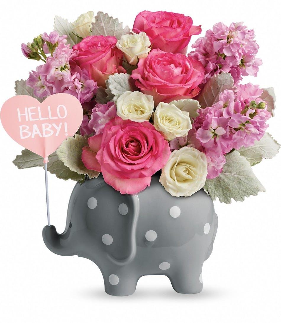 Hello Sweet Baby Pink Pughs Flowers Local Florist Memphis Tn
