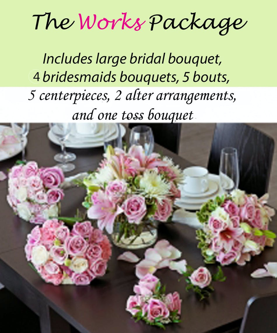 The Works Wedding Package Complete Wedding Flowers Pughs Flowers